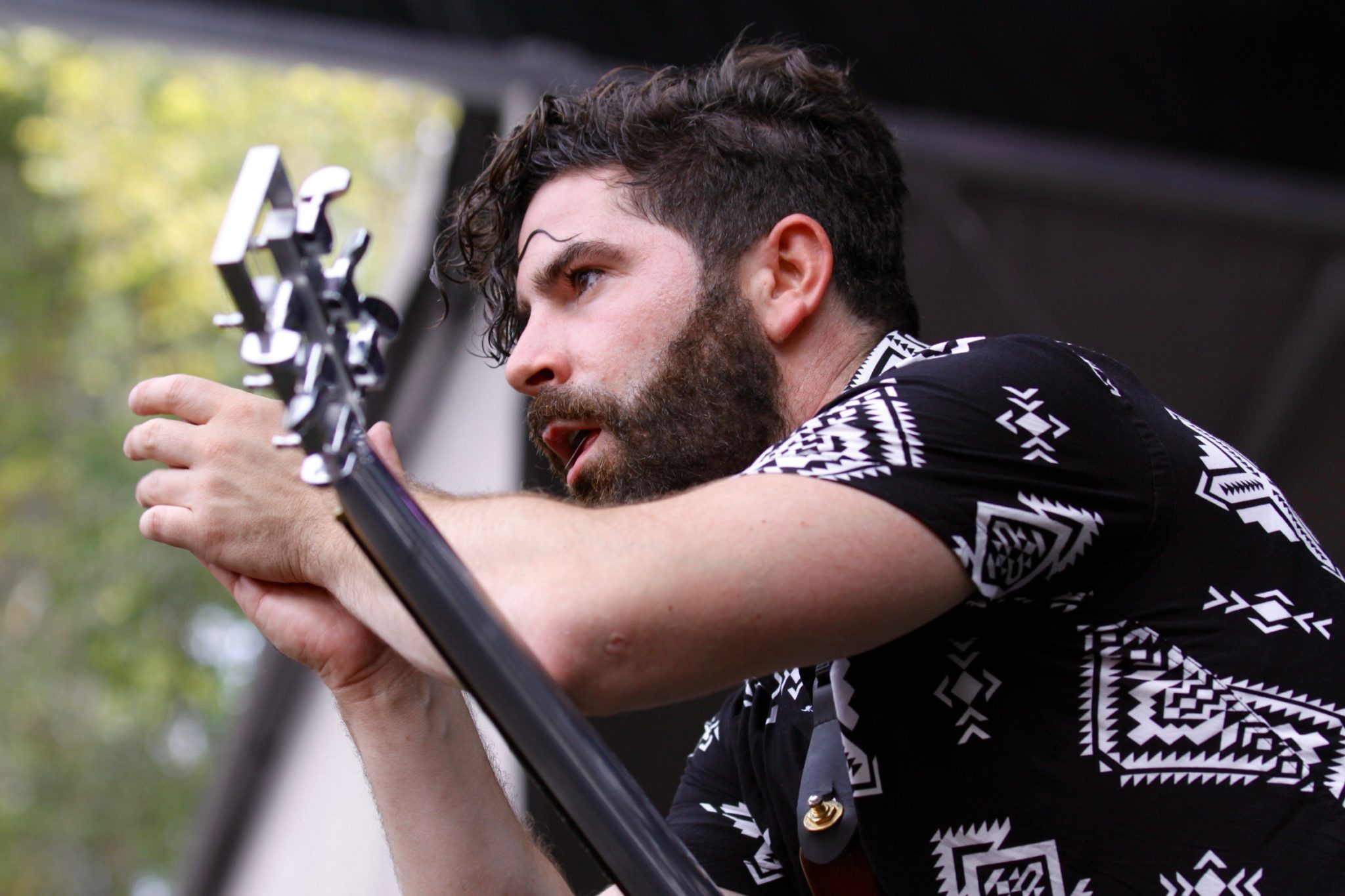 Yannis Philippakis of Foals live onstage at the 2016 Outside Lands Music Festival