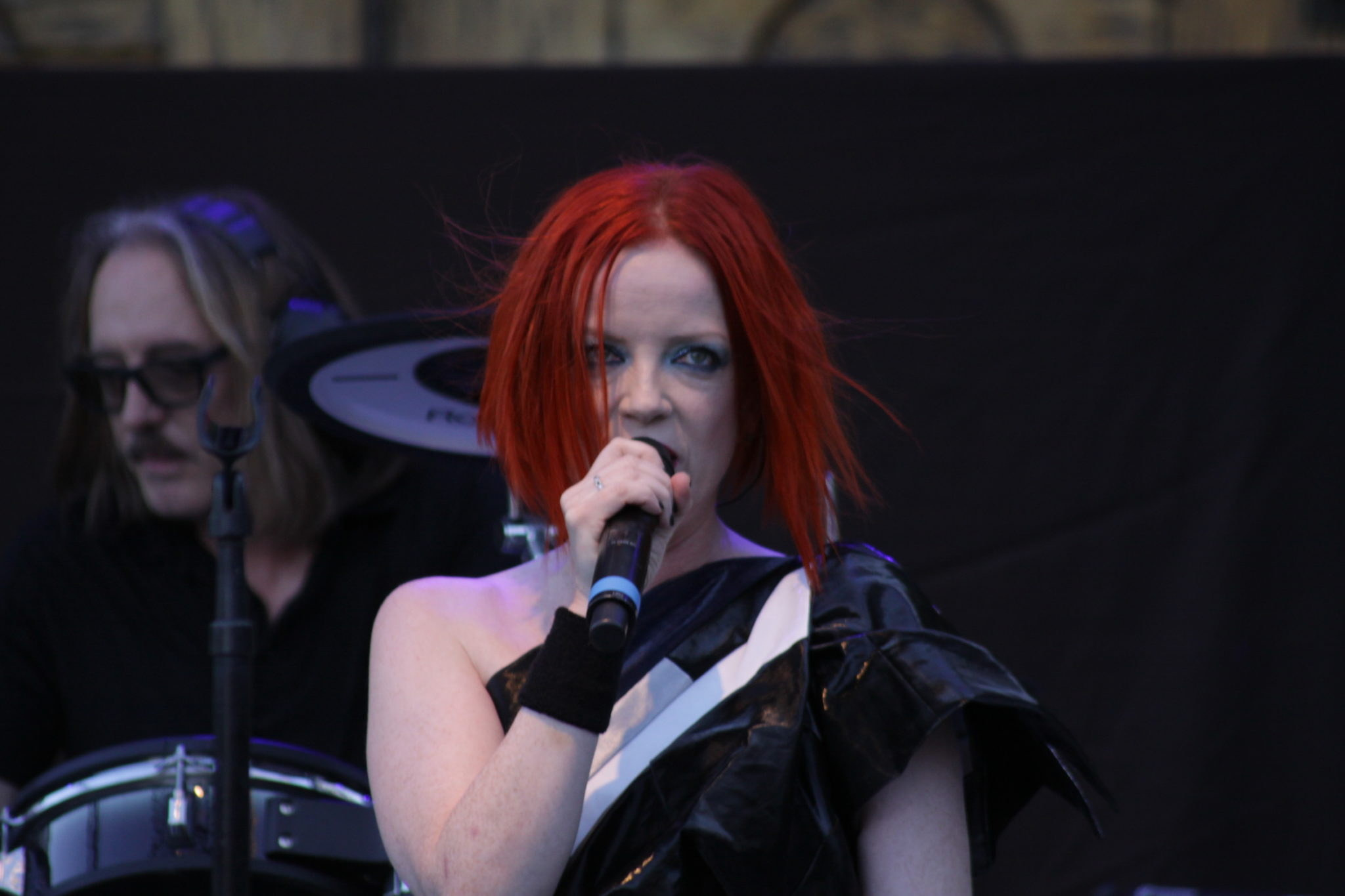 Shirley Manson of Garbage live onstage at Saratoga Mountain Winery in CA