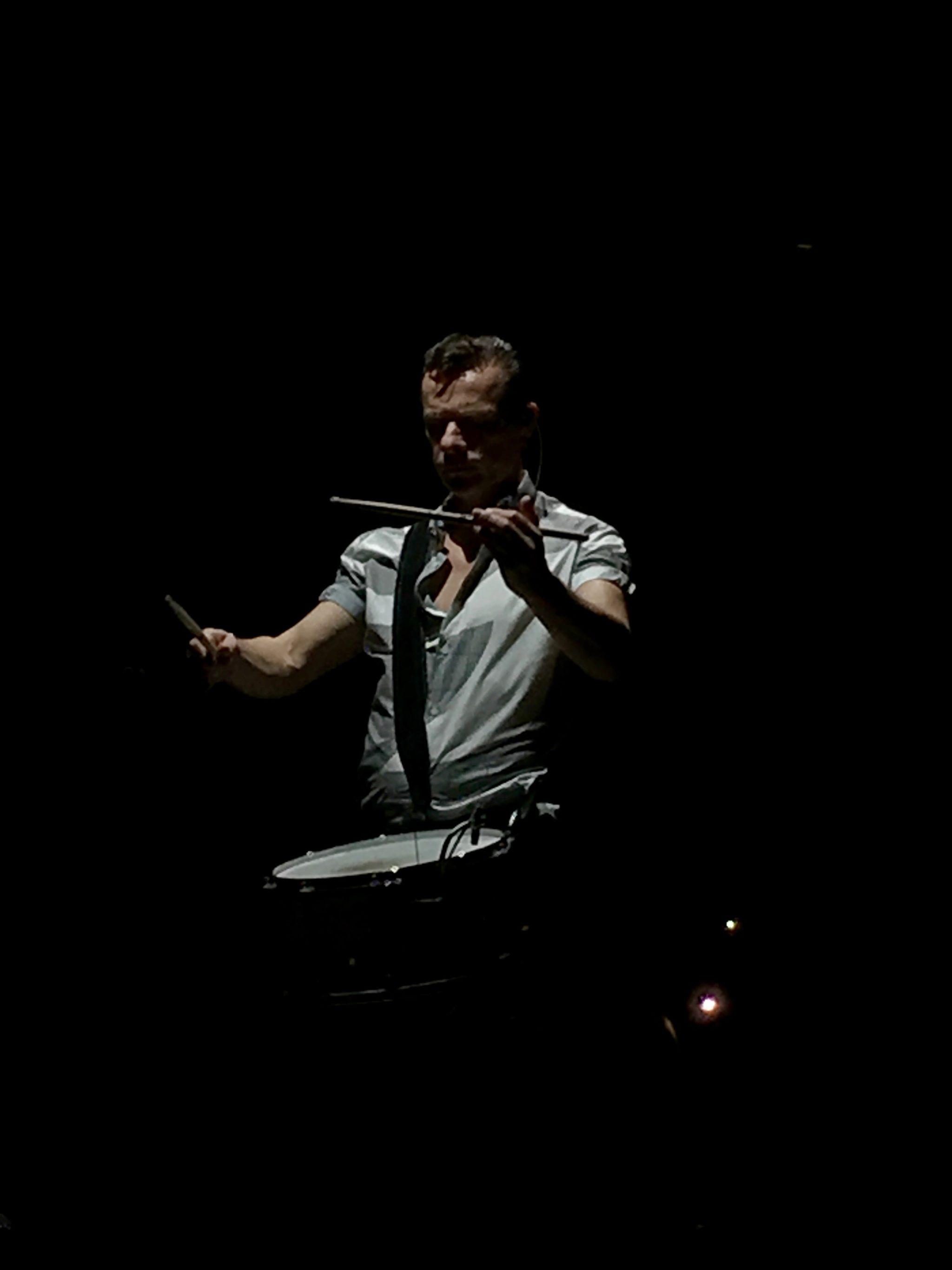 Larry Mullen Jr. of U2 performing live
