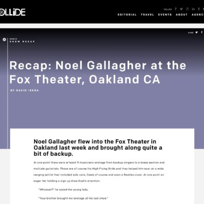 Noel Gallagher Review