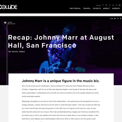 Johnny Marr Review